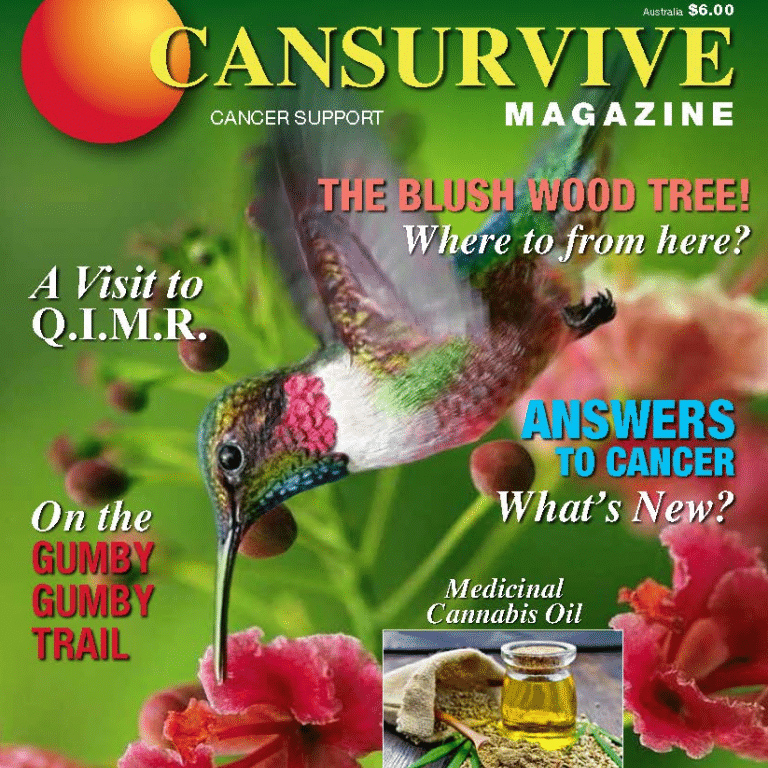 CANSURVIVE Magazine Vol 62 Cover Exerpt